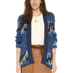 Free People Blue Time And Again Geometric Pattern